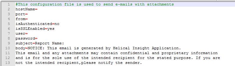 default email configure