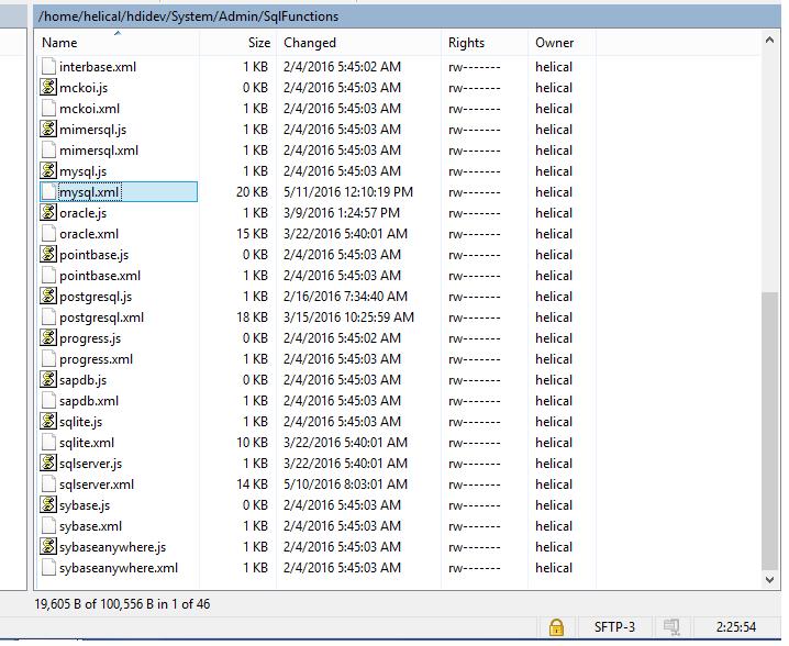 db xml list