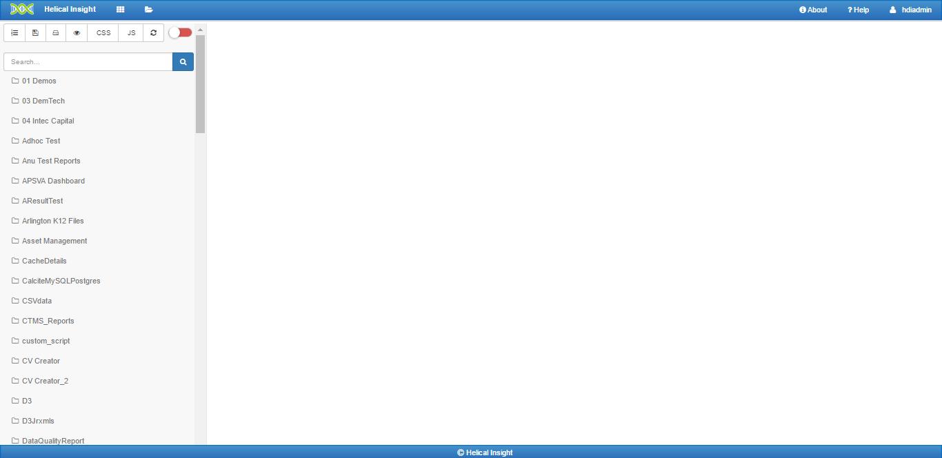 default dashboard designer