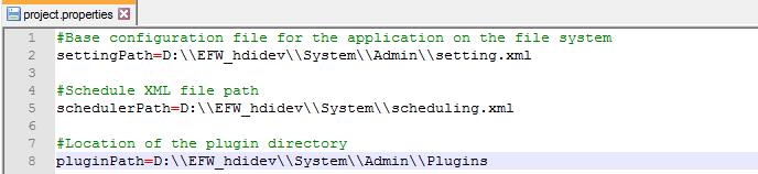 settings.xml file