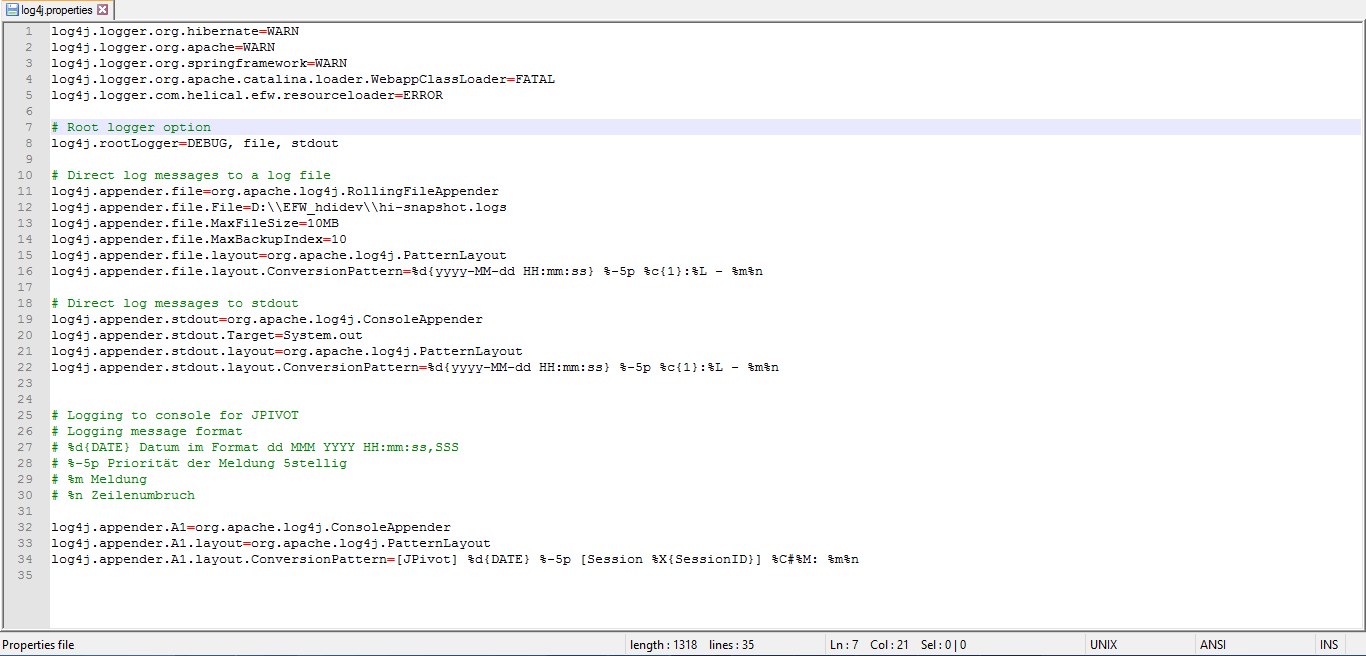log4j properties