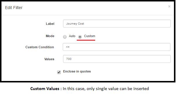 less than equal to Custom Mode