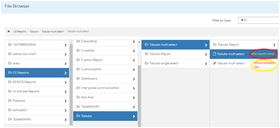 Tabular Report FrontEnd